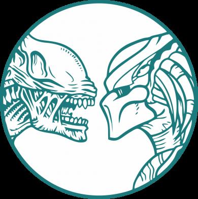 Принт Кепка Alien and Predator, Фото № 1 - FatLine