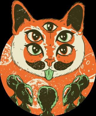Принт Женская футболка Alien Cat, Фото № 1 - FatLine
