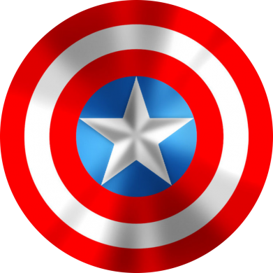 Принт Фартук Captain America 3D Shield - FatLine