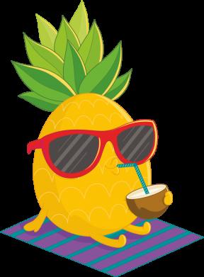 Принт Жіноча футболка Pineapple with coconut, Фото № 1 - FatLine