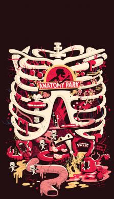Принт Чохол для Meizu E3 Anatomy Park - FatLine