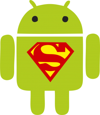 Принт Футболка Super Android - FatLine