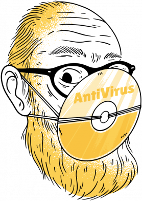 Принт Чоловіча футболка Antivirus, Фото № 1 - FatLine
