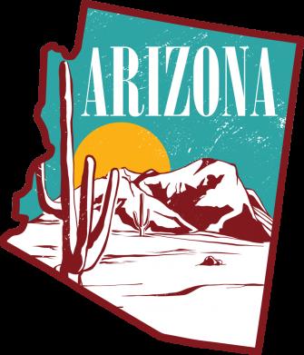 Принт Чоловіча футболка Desert and cacti, Фото № 1 - FatLine