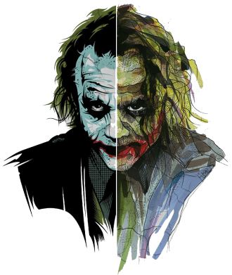 Принт Футболка Поло Joker Art Face - FatLine