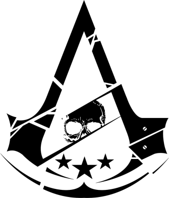 Принт Жіноча футболка Assassin's Creed and skull 1, Фото № 1 - FatLine