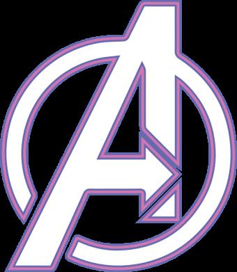 Принт Женская футболка Avengers and simple logo, Фото № 1 - FatLine
