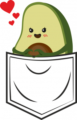 Принт Женская футболка Avocado in your pocket, Фото № 1 - FatLine