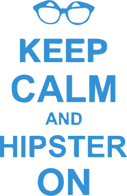Принт Килимок для миші Keep calm an on hipster - FatLine