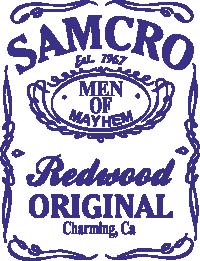 Принт Сумка Сини Анархії Samcro - FatLine