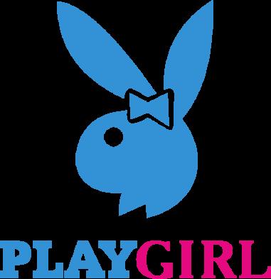 Принт Мужская футболка  с V-образным вырезом Playgirl - FatLine