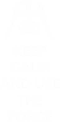 Принт Футболка Поло Keep Calm and use the Force - FatLine