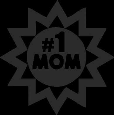 Принт Женская футболка поло # 1 MOM - FatLine