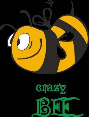 Принт Мужская футболка  с V-образным вырезом Сумасшедшая пчелка - FatLine
