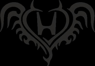 Принт Фартук Honda tattoo - FatLine