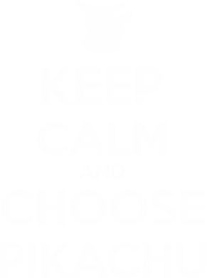 Принт Футболка Поло Keep Calm and Choose Pikachu - FatLine