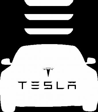 Принт Мужская толстовка на молнии Tesla Car - FatLine