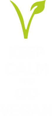 Принт Футболка Keep calm and go vegan - FatLine