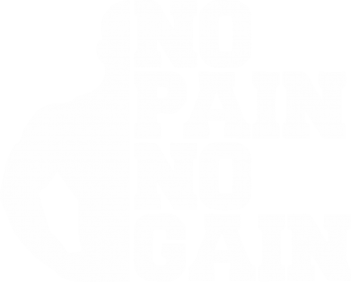 Принт Футболка Поло No pain no gain sport - FatLine