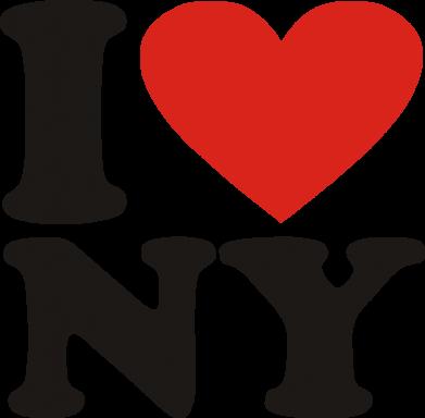 Принт Толстовка Люблю Нью Йорк - FatLine