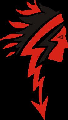 Принт Мужская футболка  с V-образным вырезом индеец - FatLine