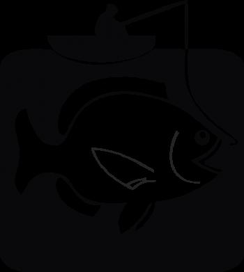 Принт Снепбек Рыба на крючке - FatLine