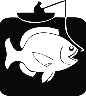 Принт Жіноча футболка Риба на гачку - FatLine