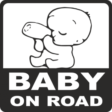 Принт Фартук Baby on Road - FatLine