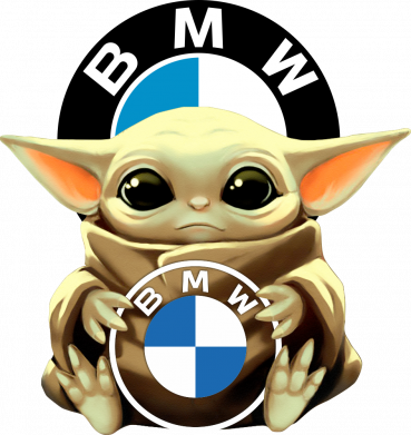 Принт Чоловіча футболка Baby yoda bmw, Фото № 1 - FatLine