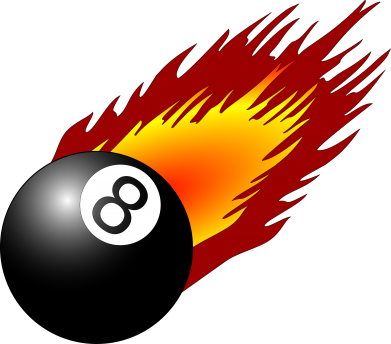Принт Кепка Бильярдный шар в огне, Фото № 1 - FatLine