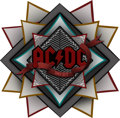 Принт Мужская толстовка на молнии AC/DC Art Logo - FatLine