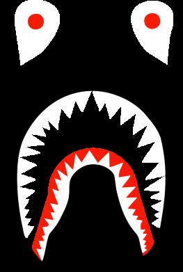 Принт Женская футболка Bape shark logo, Фото № 1 - FatLine