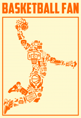 Принт Жіноча футболка Basketball fan, Фото № 1 - FatLine
