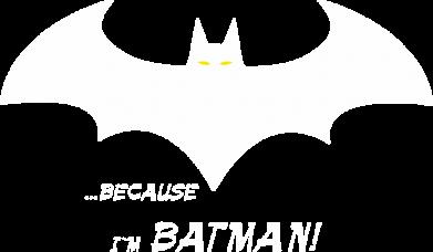 Принт Жіноча футболка Because i'm batman, Фото № 1 - FatLine