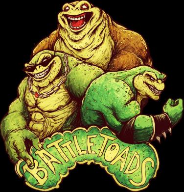 Принт Женская футболка Battletoads art, Фото № 1 - FatLine