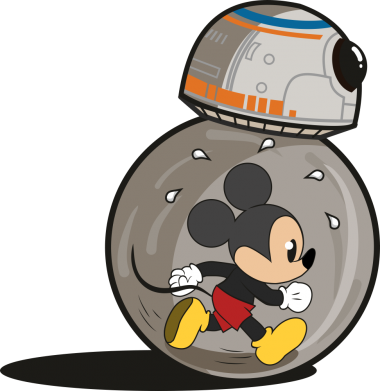 Принт Жіноча футболка BB-8 and Mickey Mouse, Фото № 1 - FatLine