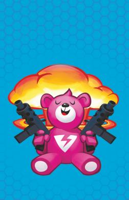 Принт Чехол для Samsung A7 2016 Fortnite pink bear - FatLine
