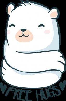 Принт Жіноча футболка Free hugs bear, Фото № 1 - FatLine