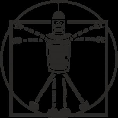 Принт Подушка Bender Da Vinchi - FatLine