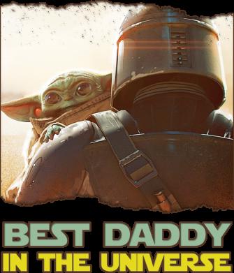 Принт Чоловіча футболка Best daddy mandalorian, Фото № 1 - FatLine