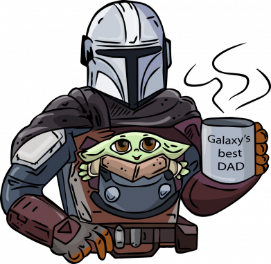 Принт Женская футболка Galaxy's best dad, Фото № 1 - FatLine