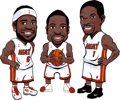 "Принт Штаны ""James, Wade and Bosh"" - FatLine"