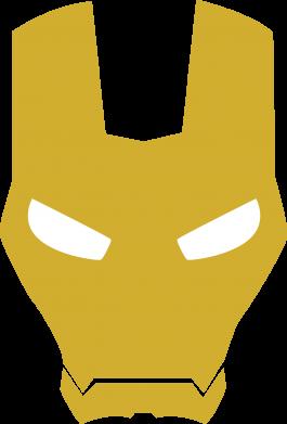 Принт Мужская толстовка на молнии Шлем Железного Человека - FatLine