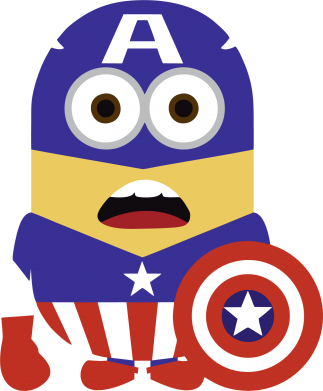 Принт Кепка-тракер Captain America Minion - FatLine