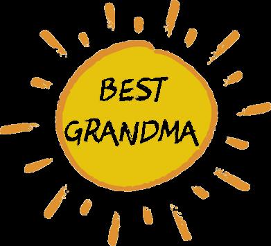 Принт Футболка з довгим рукавом Best Grandma, Фото № 1 - FatLine