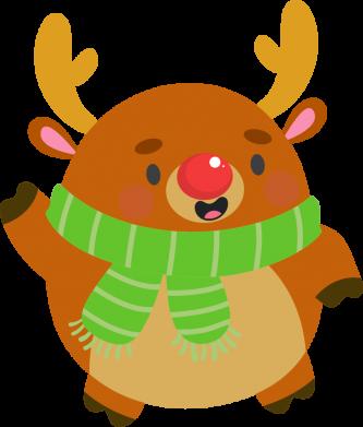 Принт Женская футболка Deer in a scarf, Фото № 1 - FatLine