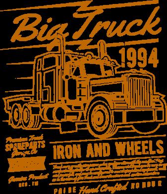 Принт Жіноча футболка Big Truck 2, Фото № 1 - FatLine