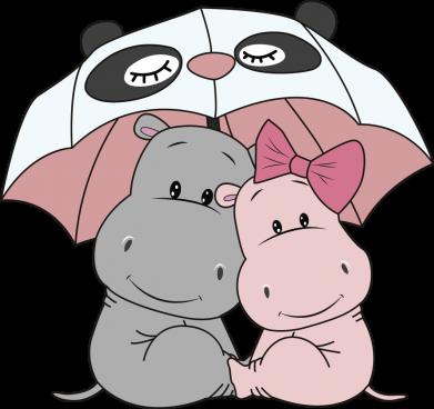Принт Жіноча футболка Hippos, Фото № 1 - FatLine