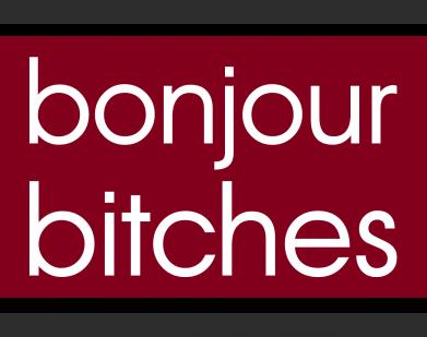 Принт Женская футболка Bonjour bitches, Фото № 1 - FatLine