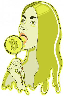 Принт Кепка Bitcoin Lollipop, Фото № 1 - FatLine